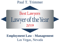 Best Lawyers - Lawyer of the Year 2019 - Paul T. Trimmer