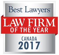 Law Firm of the Year Badge for 2017 Canada