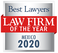Law Firm of the Year Badge for 2020 Mexico