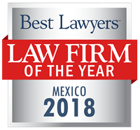 Law Firm of the Year Badge for 2018 Mexico