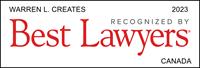 Best Lawyers Award Badge - Warren Creates
