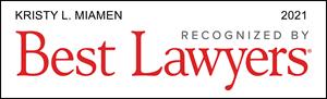 Kristy Miamen Franchisee Attorney Best Lawyers Award Badge 2021