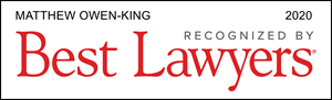 Matthew Owen-King of Scargall Owen King LLP Recognized by Best Lawyers (2020)