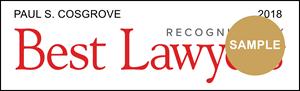 Paul Cosgrove is a Best Lawyer