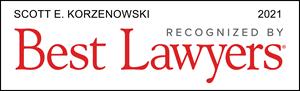 Scott Korzenowski Franchisee Attorney Best Lawyers Award Badge 2021