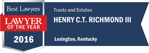 Henry C.T. Richmond III has earned a Lawyer of the Year award for 2016!