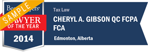 Cheryl A. Gibson , Q.C. has earned a Lawyer of the Year award for 2014!