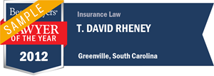 T. David Rheney has earned a Lawyer of the Year award for 2012!