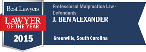 J. Ben Alexander has earned a Lawyer of the Year award for 2015!