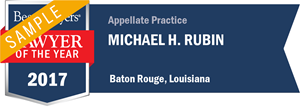 Michael H. Rubin has earned a Lawyer of the Year award for 2017!