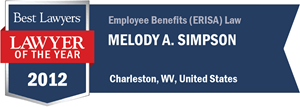 Melody A. Simpson has earned a Lawyer of the Year award for 2012!