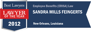 Sandra Mills Feingerts has earned a Lawyer of the Year award for 2012!