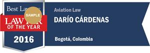 Darío Cárdenas has earned a Lawyer of the Year award for 2016!