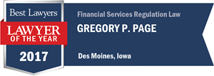 Gregory P. Page has earned a Lawyer of the Year award for 2017!