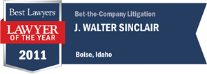 J. Walter Sinclair has earned a Lawyer of the Year award for 2011!