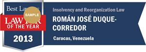 Román José Duque-Corredor has earned a Lawyer of the Year award for 2013!