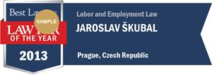 Jaroslav Škubal has earned a Lawyer of the Year award for 2013!