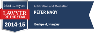 Péter Nagy has earned a Lawyer of the Year award for 2014!