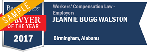 Jeannie Bugg Walston has earned a Lawyer of the Year award for 2017!