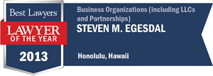 Steven M. Egesdal has earned a Lawyer of the Year award for 2013!