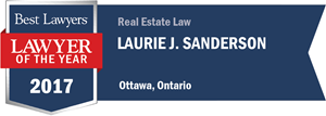 Laurie J. Sanderson has earned a Lawyer of the Year award for 2017!