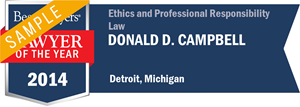 Donald D. Campbell has earned a Lawyer of the Year award for 2014!