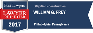 William G. Frey has earned a Lawyer of the Year award for 2017!
