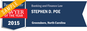 Stephen D. Poe has earned a Lawyer of the Year award for 2015!