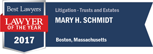 Mary H. Schmidt has earned a Lawyer of the Year award for 2017!