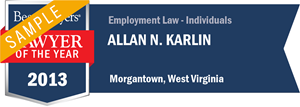 Allan N. Karlin has earned a Lawyer of the Year award for 2013!