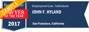 John F. Hyland has earned a Lawyer of the Year award for 2017!