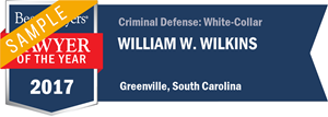 William W. Wilkins has earned a Lawyer of the Year award for 2017!