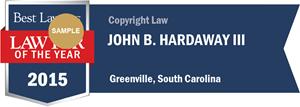 John B. Hardaway has earned a Lawyer of the Year award for 2015!