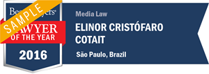 Elinor Cristófaro Cotait has earned a Lawyer of the Year award for 2016!