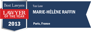 Marie-Hélène Raffin has earned a Lawyer of the Year award for 2013!