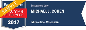 Michael J. Cohen has earned a Lawyer of the Year award for 2017!