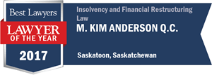 M. Kim Anderson QC has earned a Lawyer of the Year award for 2017!