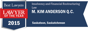M. Kim Anderson QC has earned a Lawyer of the Year award for 2015!