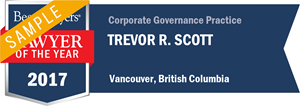 Trevor R. Scott has earned a Lawyer of the Year award for 2017!