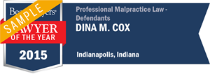 Dina M. Cox has earned a Lawyer of the Year award for 2015!
