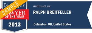 Ralph Breitfeller has earned a Lawyer of the Year award for 2013!