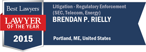 Brendan P. Rielly has earned a Lawyer of the Year award for 2015!