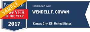Wendell F. Cowan has earned a Lawyer of the Year award for 2017!