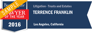 Terrence Franklin has earned a Lawyer of the Year award for 2016!