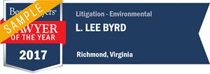 L. Lee Byrd has earned a Lawyer of the Year award for 2017!