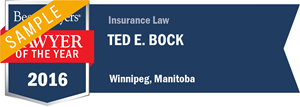 Ted E. Bock has earned a Lawyer of the Year award for 2016!