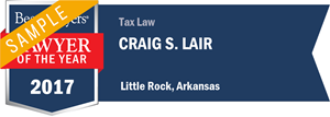 Craig S. Lair has earned a Lawyer of the Year award for 2017!