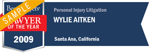 Wylie Aitken has earned a Lawyer of the Year award for 2009!