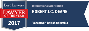 Robert J.C. Deane has earned a Lawyer of the Year award for 2017!
