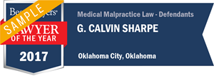 G. Calvin Sharpe has earned a Lawyer of the Year award for 2017!